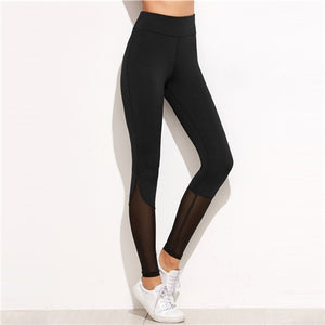6d85e4384d26c Black Mesh Insert Skinny Leggings - Florencio De Royale Fashion