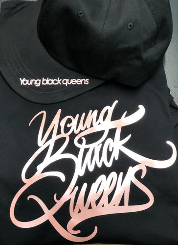YOUNG BLACK QUEENS T-shirt and hat