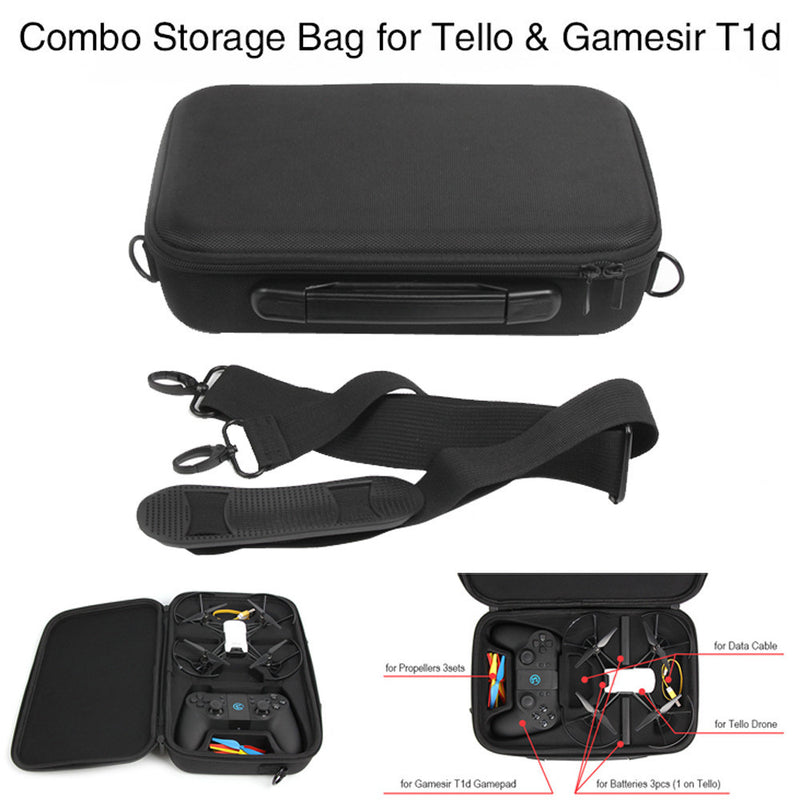 For DJI Tello Drone Waterproof Portable Bag Body/Battery Handbag Carrying Case Handbag Tote Black Circular Bag Fashion