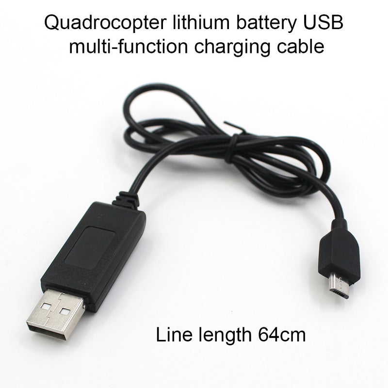 Drone Usb Charger Charger Cable High Performance Quadcopter Accessory Cable USB Cable Black ABS Helicopter UAV