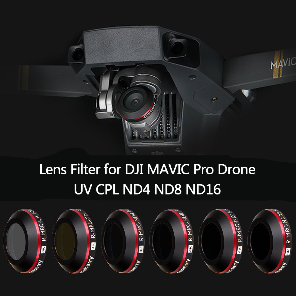 MC HD UV ND4 ND8 ND16 CPL Lens Filter for DJI Mavic Pro Platinum Camera Drone Filter No Tools Needed Polarizing Neutral Density