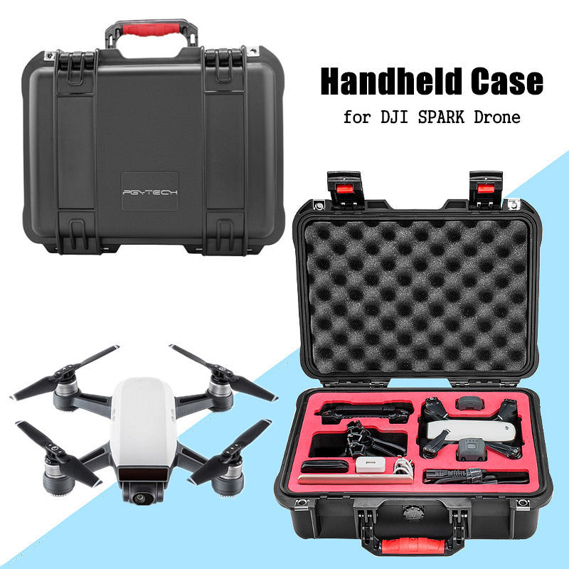 Portable Handbag Waterproof Bag Durable Aircraft Convenience Drone Bag PU Black Drone Transportation