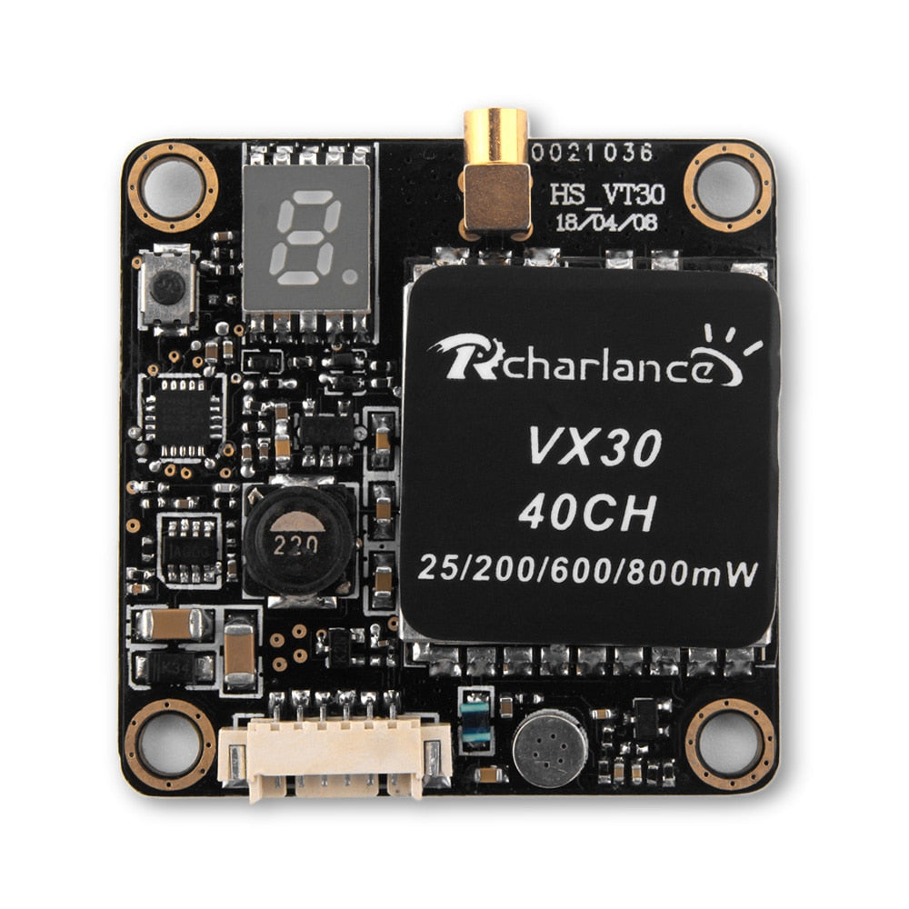 Rcharlance VX30 40CH 25 / 200 / 600 / 800mW Video Transmitter for RC Drone
