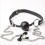 Vimbo Women Body Chains - Entertainment Chain Clip Combination Nipple Clip with Fun Ball - Adjustable Clip with Gray Storage Bag