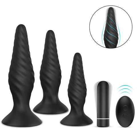 Butt Plug Training Set Anal Plugs Vibrator Trainer Kit Prostate Massager Sex Toys for Beginners Advanced