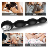 Male Vibrating Prostate Massager Anal Butt Plug with Graduated Beads,Anal Vibrator Prostate Stimulator Rechargeable Waterproof 12 Vibration Modes Bullet Anus Sex Toys for Men Women
