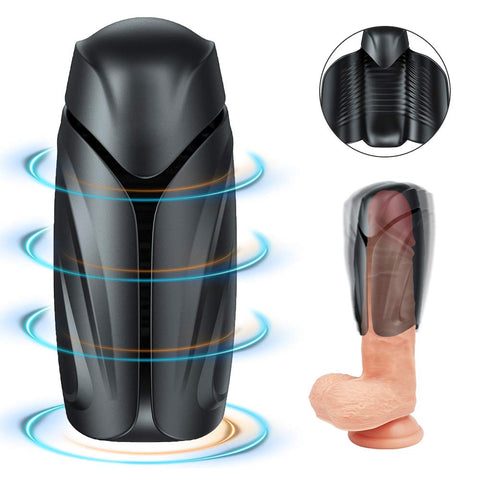 Penis Training Vibrator Male Masturbator - Adorime Sexual Endurance Prolonging Toy 10 Modes Waterproof Masturbation Penis Head Glans Trainer Massager Sex Toys for Improving Men's Erection & Durability
