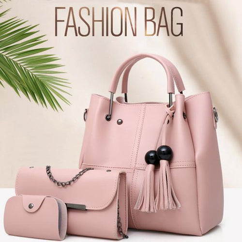 Best Selling 🔥3 Pcs / 1 Set 🔥Leather Handbag (Free Shipping🚀) with 50% OFF