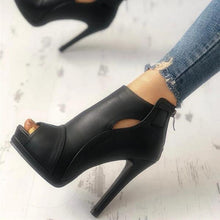Load image into Gallery viewer, Fashion Peep Toe Cutout Thin Heels