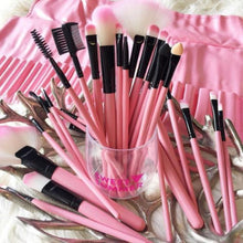 Load image into Gallery viewer, Pink Glory 24 Piece Makeup Brush Set