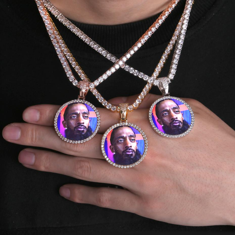 CUSTOM PHOTO MEDALLIONS | SOLID NECKLACE