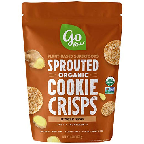 Go Raw Organic Ginger Snap Cookie Crisps 3 oz