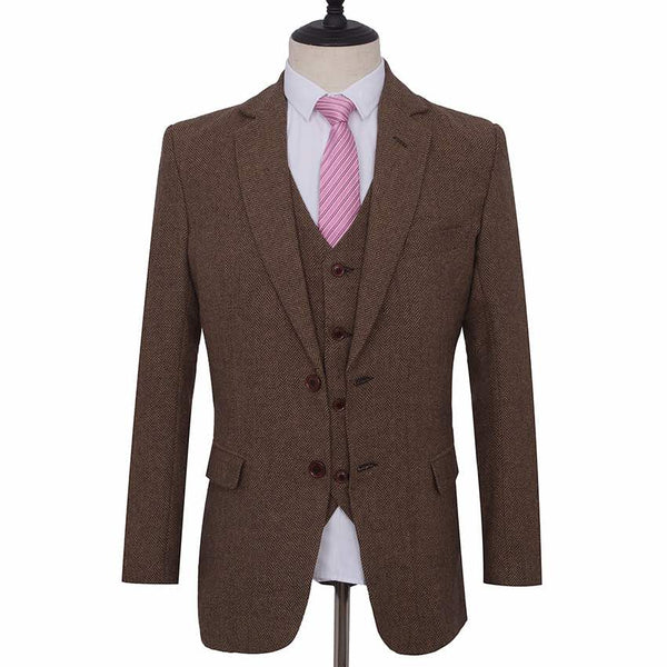 Light Brown Herringbone Jacket
