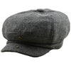 Grey Herringbone Tweed Flat Cap