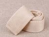 Cream Knitted Tie