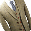 Light Brown Tweed With Blue Window Pane