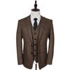 Brown Estate Herringbone 3 Piece Tweed Suit