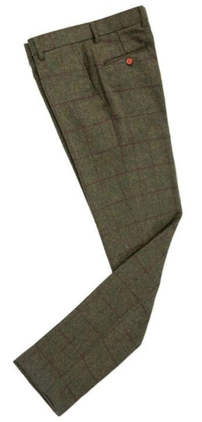 Green Tweed Trouser
