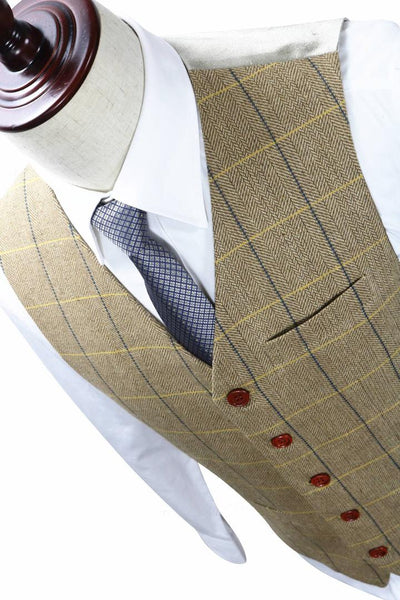 Light Brown Tweed Waist Coat