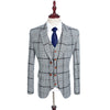 Grey Modern Check Suit