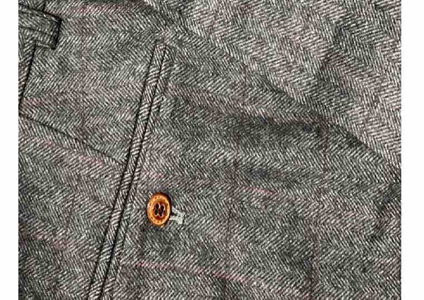 Peaky Grey Estate Herringbone Tweed Trouser