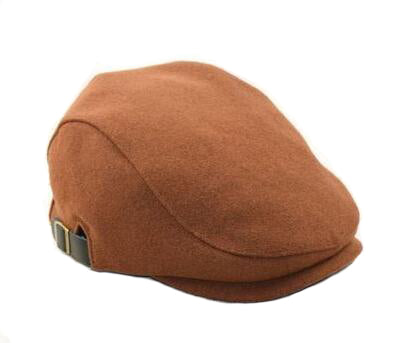 Orange Tweed Flat Cap