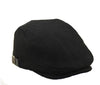 Black Tweed Flat Cap