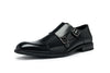 Black Brogue with Monk Strap Buckle