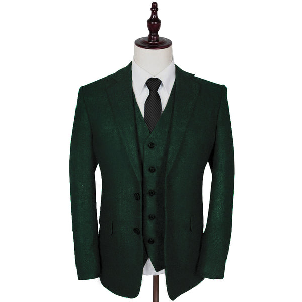 Blinder Green Herringbone Tweed 3 Piece Suit