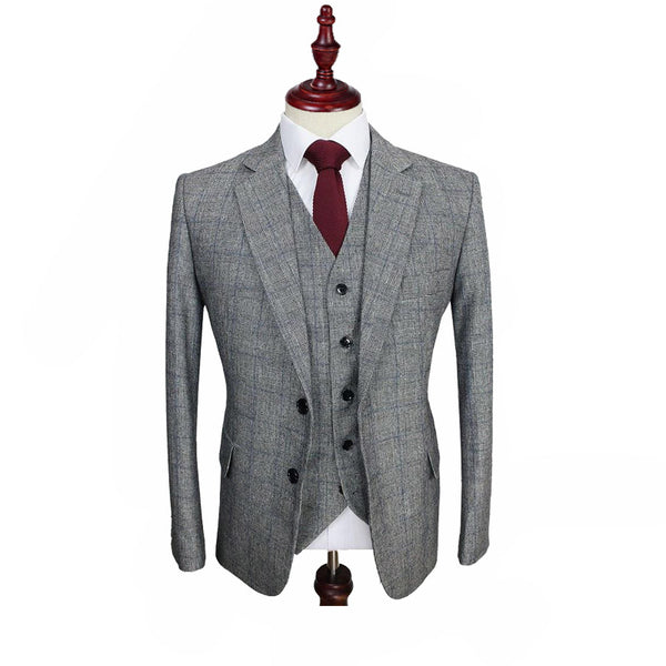 Prince Of Wales Tweed 3 Piece Suit