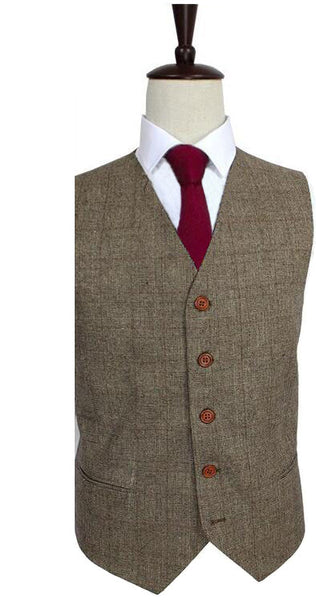 Brown Glen Check Waist Coat