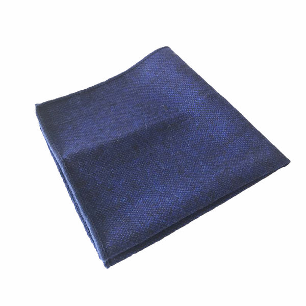 Blue Textured Pocket Square