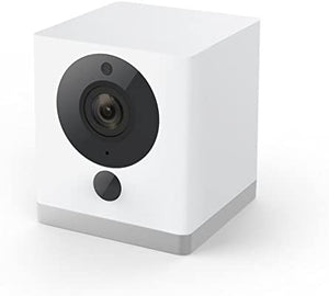 Wyze Cam 1080p HD Indoor Wireless Smart Home Camera with Night Vision, 2-Way Audio, Works with Alexa & the Google Assistant, One Pack, White - WYZEC2