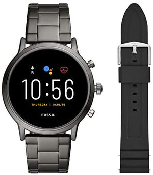Fossil Gen 5 Carlyle HR Heart Rate Stainless Steel Touchscreen Smartwatch Smoke Model: FTW4024