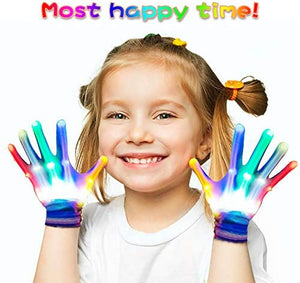 Superwinky Colorful Flashing Light Up Gloves for Kids Best Gifts