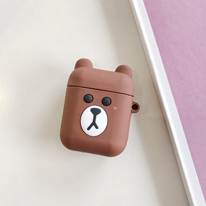 VOZRO Cartoon Apple AirPods Silicone Charging Headphones