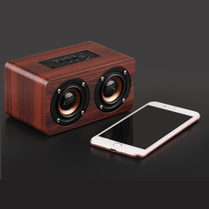 KAPCICE Wooden Wireless Bluetooth Speaker Portable HiFi Shock Bass Altavoz TF