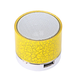 Sago A9 Bluetooth Speaker Mini Wireless Loudspeaker Crack LED TF USB Subwoofer