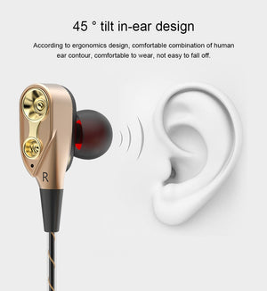 PINZHENG Hifi Devices Earbuds Bass Earphone For Phone Gaming In Ear Headphones Sport Headset Earphones With Microphone