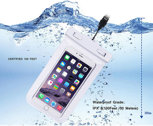 Waterproof Mobile Phone Case For iPhone X/ Xs/ Max Xr /8 /7 Samsung S9 Clear PVC Sealed Underwater Dry Pouch Cover
