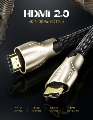 Ugreen HDMI Cable 4K HDMI To HDMI 2.0 Cable Cord TV Extender 60Hz