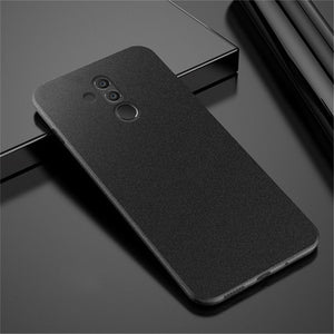 Luxury Ultra Slim Matte Scrub Phone Case For Huawei Mate 20 Lite P20 Pro Sandstone Pattern Soft Cover For Huawei Mate 20 10 P30