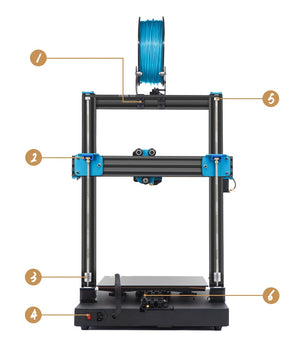 3D Printer Artillery Sidewinder X1 SW-X1 300x300x400mm Large Plus Size High Precision Dual Z Axis TFT Touch Screen