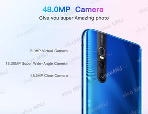 Original Vivo X27 Mobile Phone Android 9.0 Snapdragon Octa Core 8+128 Fingerprint 48.0MP AI HiFi Elevating  Camera