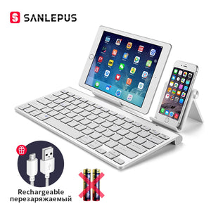 SANLEPUS Ultra-Slim Bluetooth Keyboard Wireless Computer Keyboard Mini For Phone Tablet Laptop iPad iPhone Samsung IOS Android
