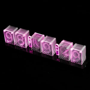 Small Size Remote Control High-Tech Acrylic Electronic Clock Creative Luminous Clock