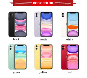 "Brand New Apple iphone 11 A2111 Mobile Phone 6.1"" 4GB RAM 128GB ROM Hexa-Core iOS 13 IP68 Waterproof 3046mAh Smart Phone"