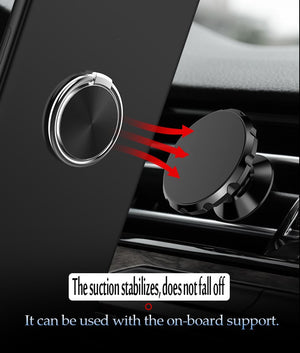 Metal Holder Finger Ring Mobile Phone Stand With Magnetic Round Car Mount
