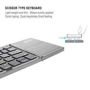 Portable Folding Bluetooth Keyboard Wireless For IOS/Android/Windows