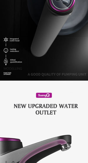 SaengQ Automatic Electric Water Dispenser Gallon Drinking Bottle Smart Switch Pump